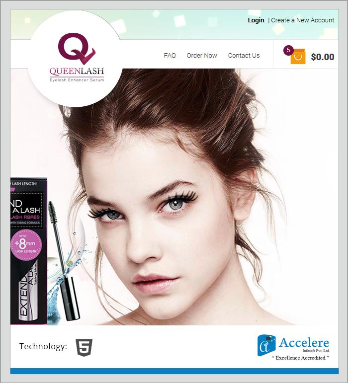 Cosmetics Site - Accelere Portfolio
